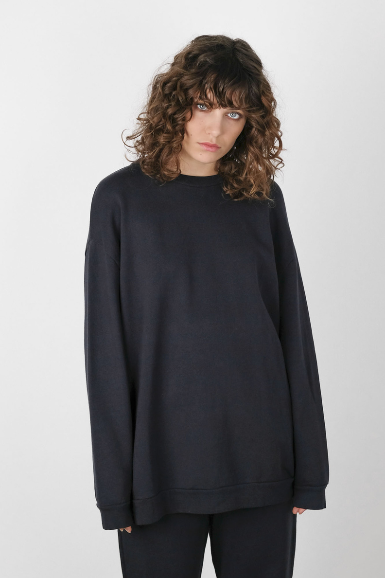 can pep rey oversized sweater dark navy